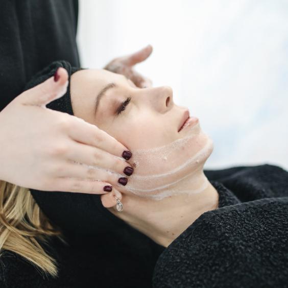 Skin care, face massage